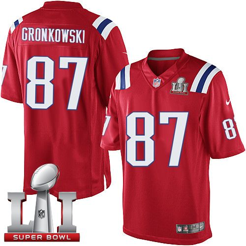 Nike Patriots  87 Rob Gronkowski Red Alternate Super Bowl LI 51 Men s  Stitched NFL Limited Jersey And  Eric Berry jersey 41c9b3dfb