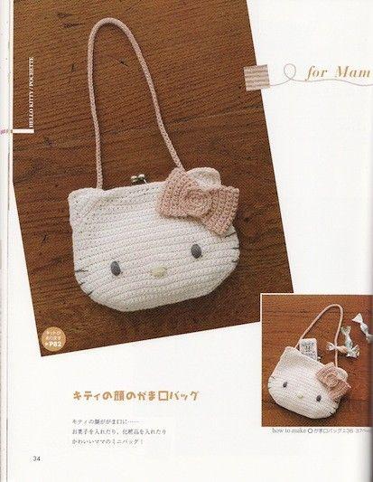 Crochet Hello Kitty Hat Bag Pattern Patterns A Crochet