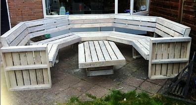 salon de jardin en palettes - Fabriquer Salon De Jardin En Palette
