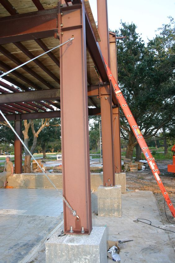 Steel Retaining Structures : Steel structure foundation google search str dtl