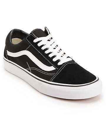 Vans Old Skool zapatos de skate blanco y negro (hombre)  144d9bc08fe