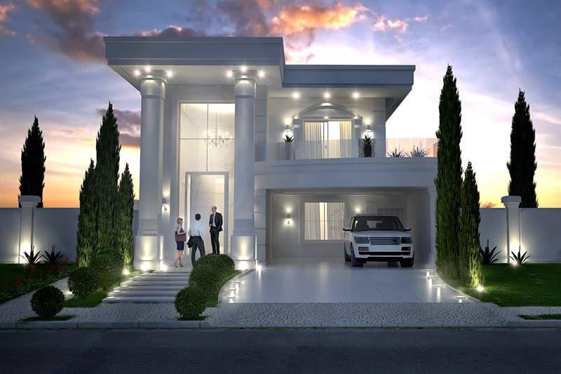 Planta de casa neoclassica - Projetos de Casas, Modelos de Casas e ...