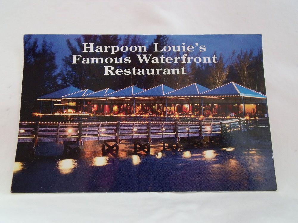 1980s Postcards 2 From Harpoon Louie S Restaurant Jupiter Fl