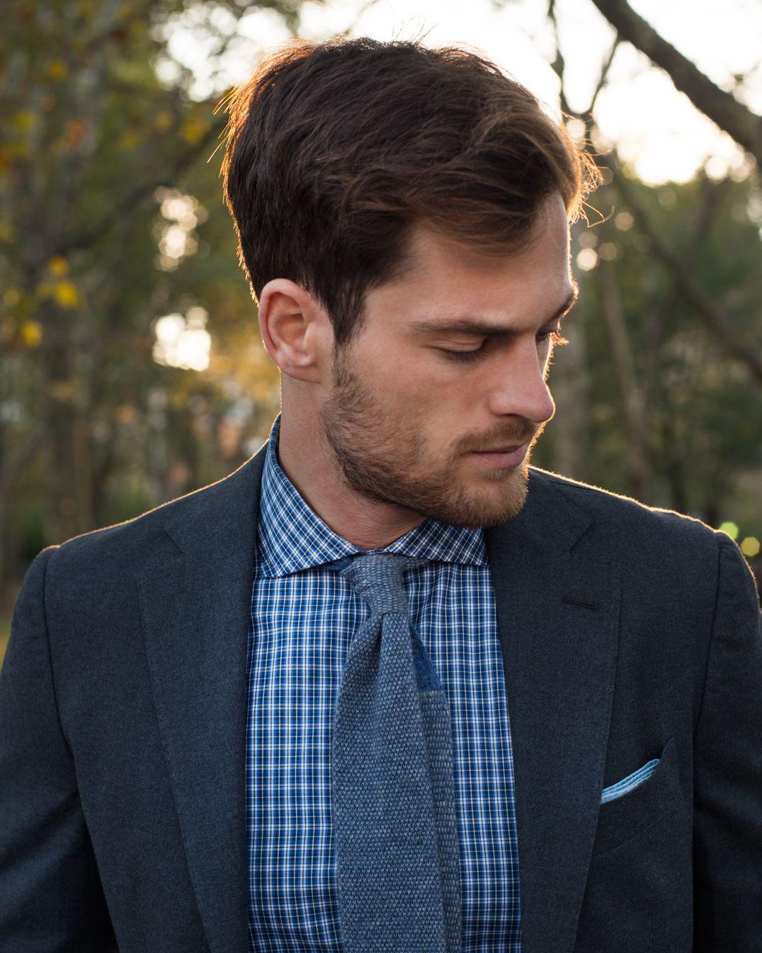 Flannel Suit Plaid Dress Shirt Cashmere Knit Tie My Style