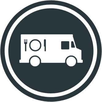 To The Point Food Truck Street Food Design Logo Food