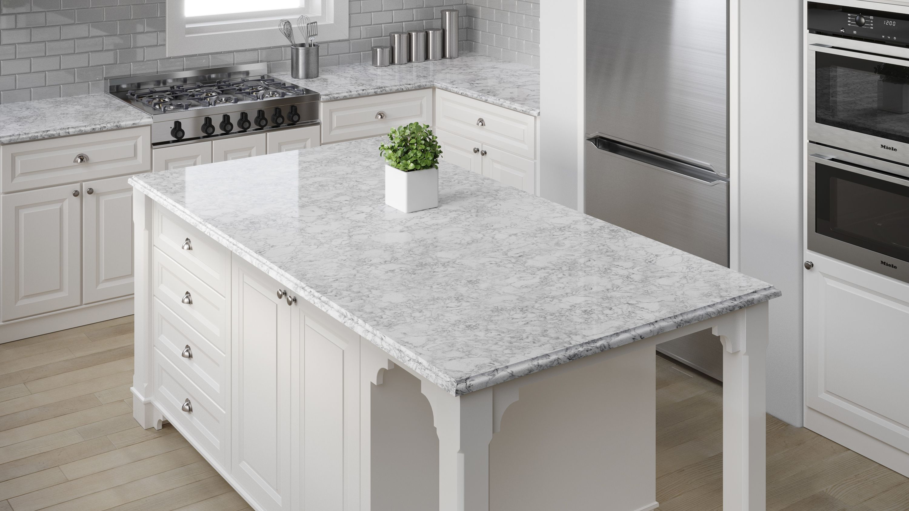 Allen And Roth Countertops Quartz Done In Oyster Cotton Is A Beautiful Color From The