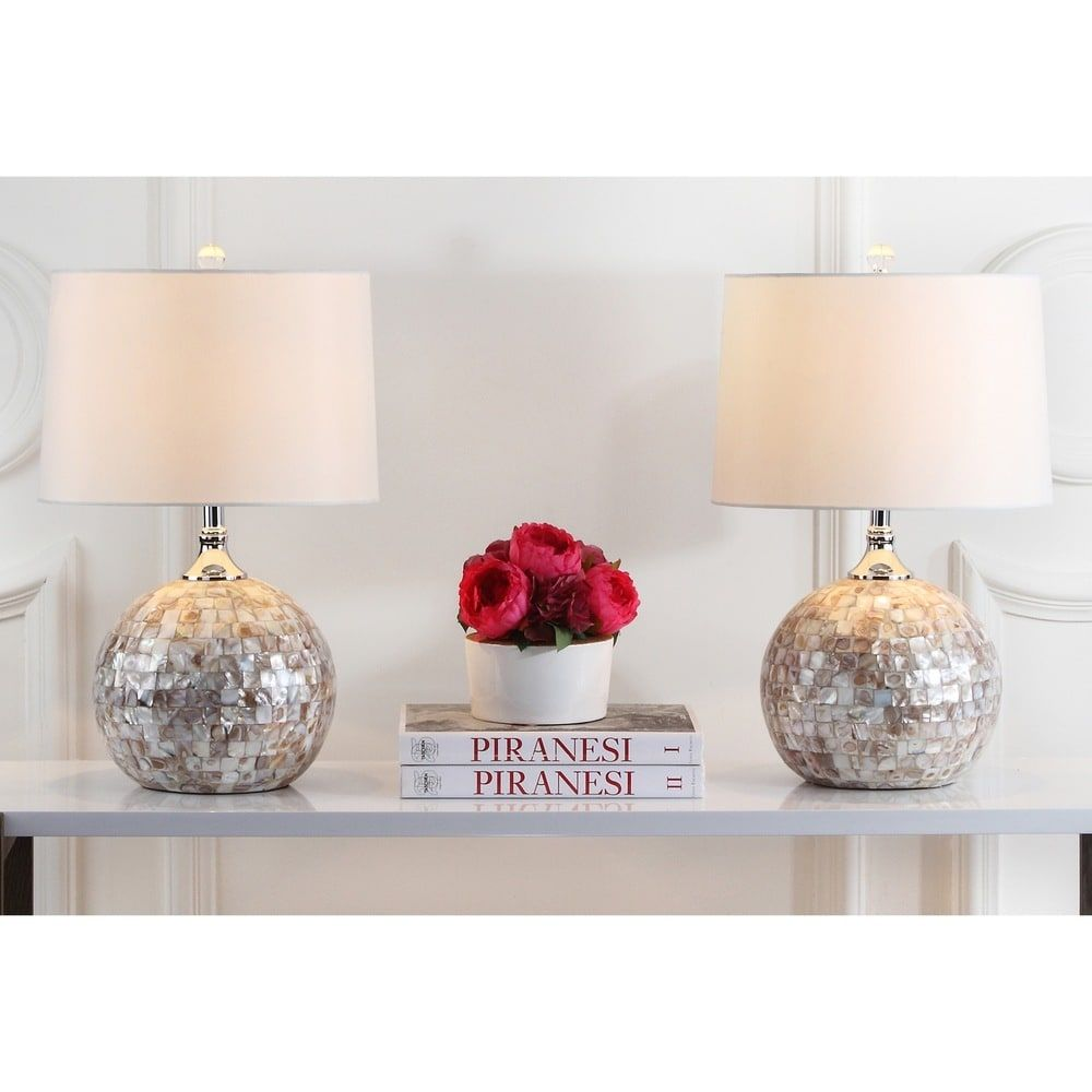 Safavieh Lighting 22 Inch Nikki Sea Shell Table Lamp Set Of 2