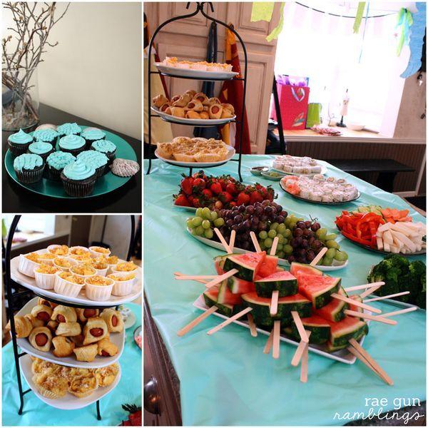 Birthday party snacks