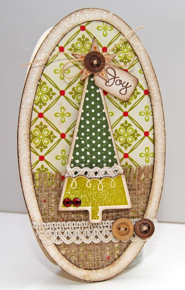 """""""Joy"""" card made with the Cricut Christmas Cricut DIY"""