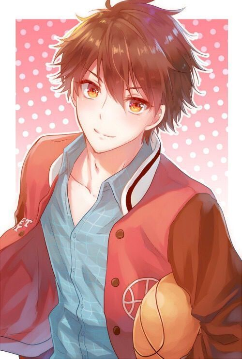#Anime Guy | Brown Hair | Golden/Orange-Yellow Eyes | # ...