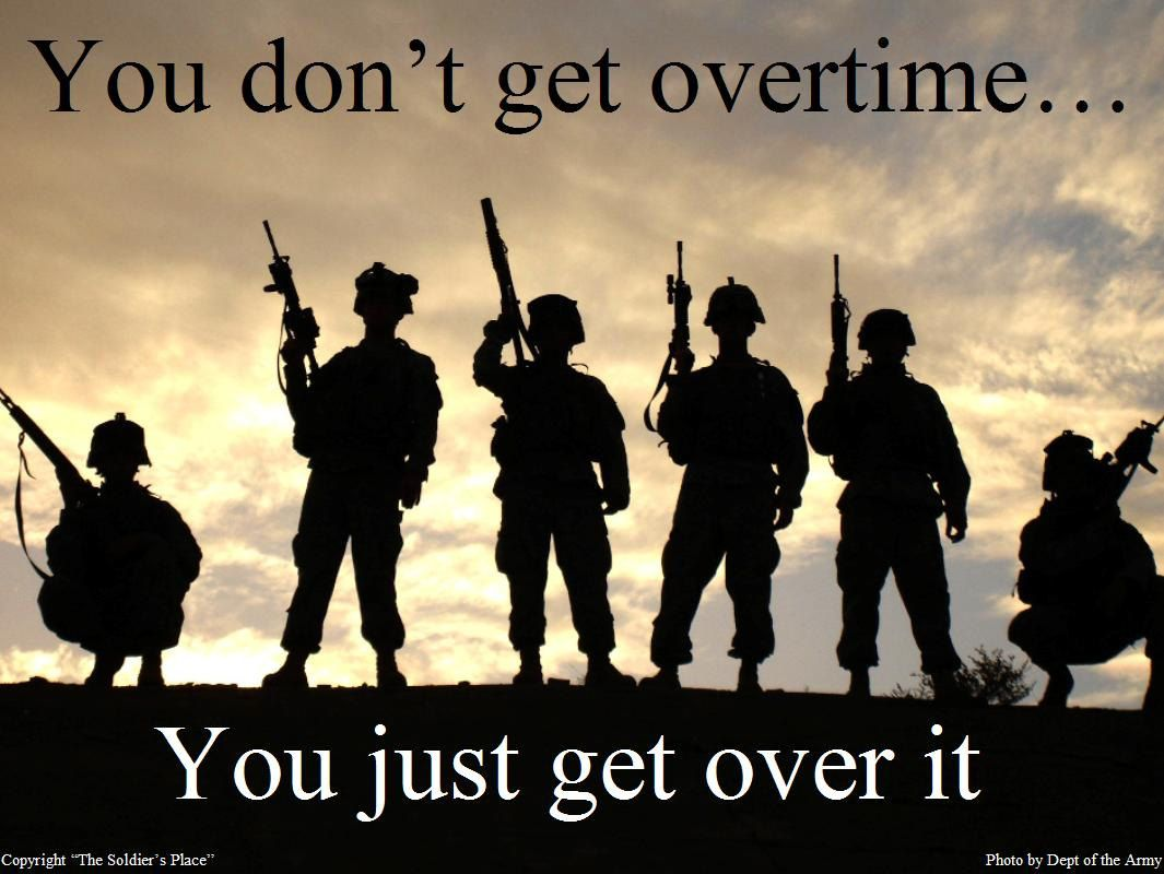 OVERTIME Print Military, Army, Navy, Marines, Air Force