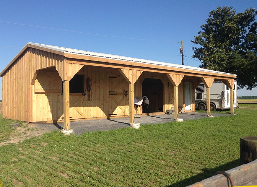 Horizon Structures 10x40 Shedrow Style Horse Barn With 10