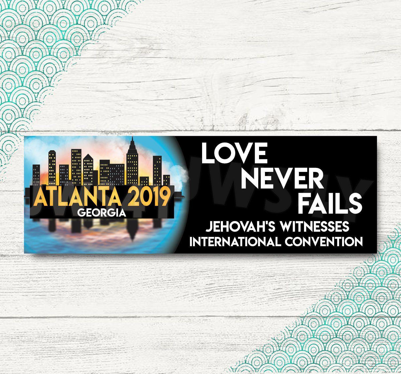 Love Never Fails Atlanta International Convention Bookmarks