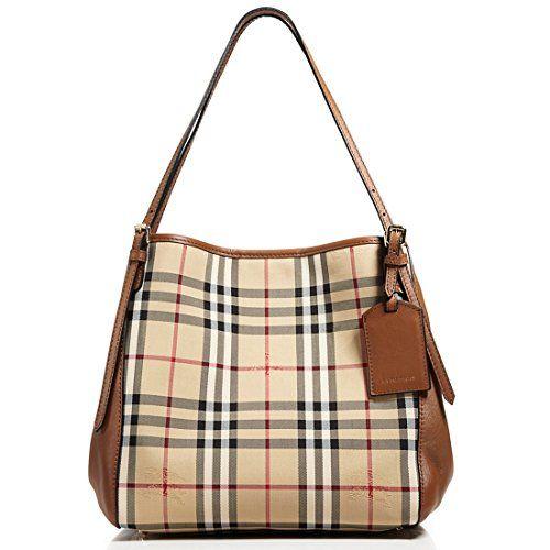 68ce3bde6191 Burberry Horseferry Check Small Canterbury Panels Tote Handbag Honey Tan