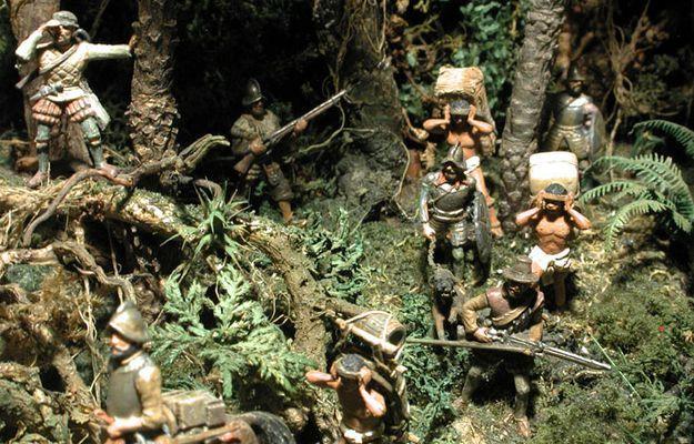 1 72 Conquistadores Exploring The Jungle By Erik Trauner Cool Illusions Conquistador Diorama