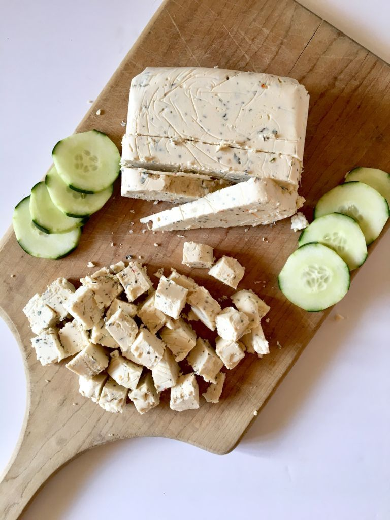 Vegan Feta Cheese Slice Able Crumbly Perfect For Salads Pasta Dishes Recipe Vegan Feta Cheese Vegan Cheese Recipes Vegan Cheese