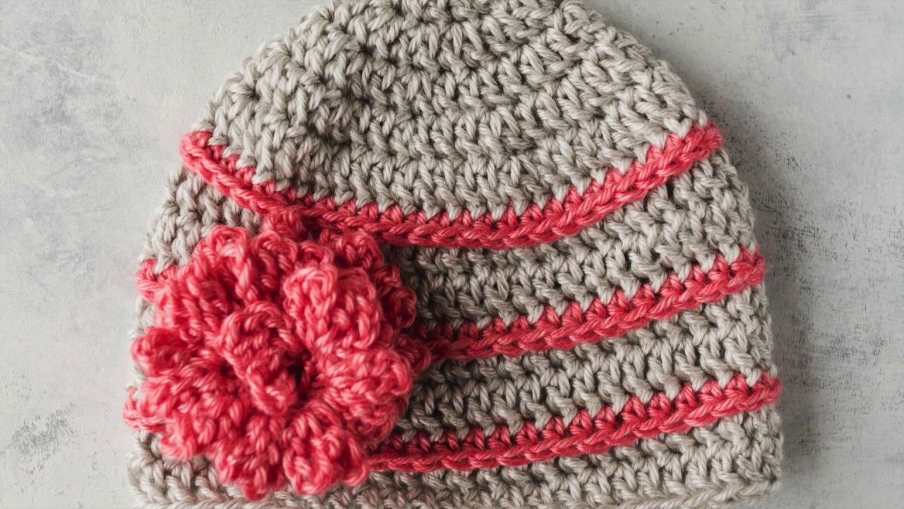 How To Crochet A Hat For Beginners Youtube