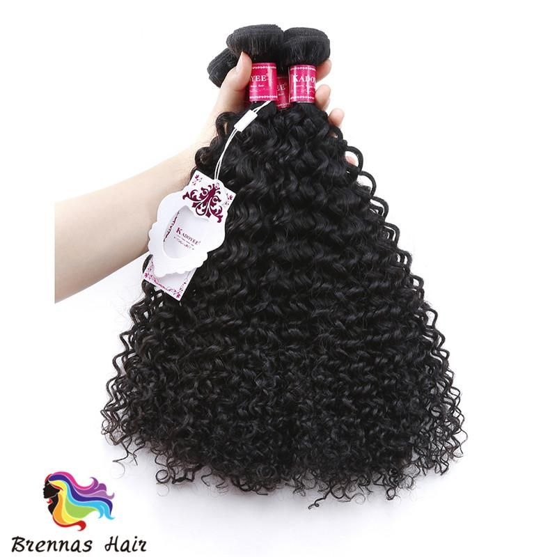 Natural Black Color Brazilian Jerry Curly Hair Weave Human Hair