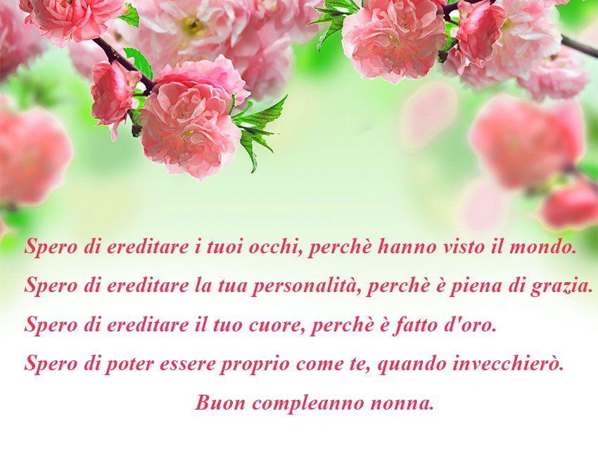Buon Compleanno Nonna poesia | compleanno nonna | Pinterest