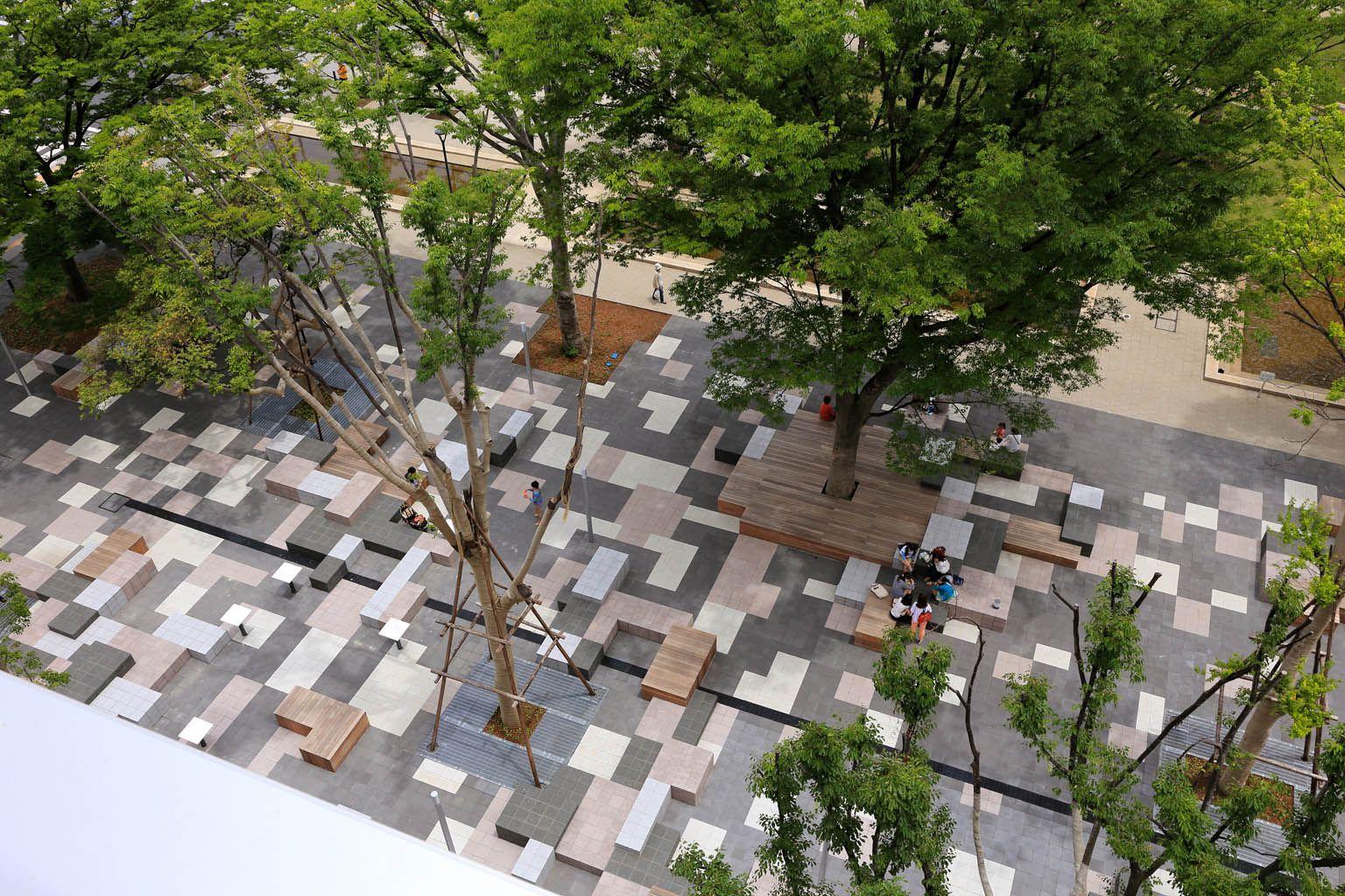 Works teikyo heisei university nakano university for Spaces landscape architecture