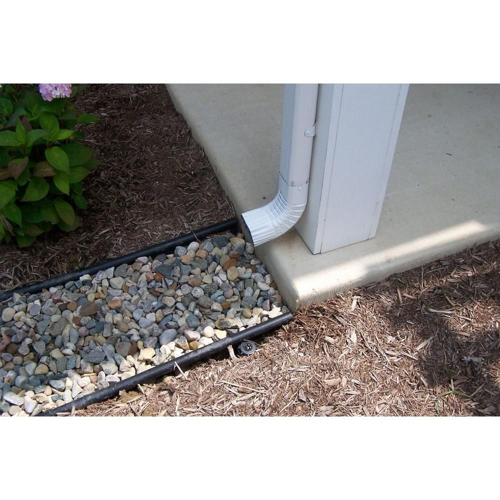 Invisaflow 38 In Channel Guard 7400 At The Home Depot Sloped Garden Backyard Drainage Front Yard Landscaping
