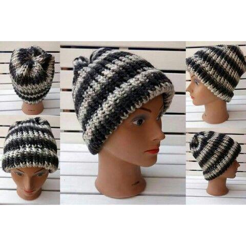 Loom knitting hat Czapka z obręczy dziewiarskiej www.knitpl.com