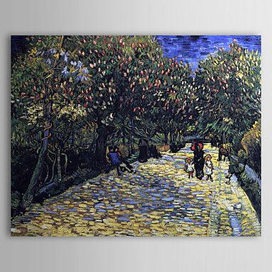 Beroemde olieverfschilderij Avenue met Bloeiende Kastanjebomen door Van Gogh – EUR € 82.49