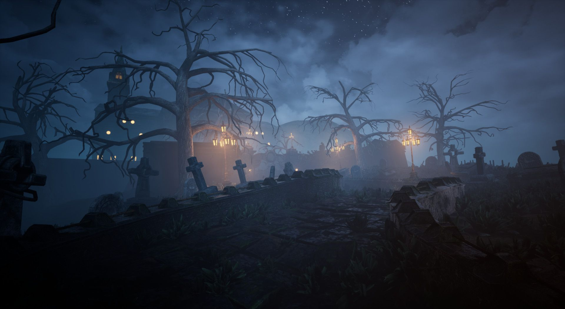 Artstation Ue4 Graveyard Environment Lucas Williams Environment Graveyard Game Environment