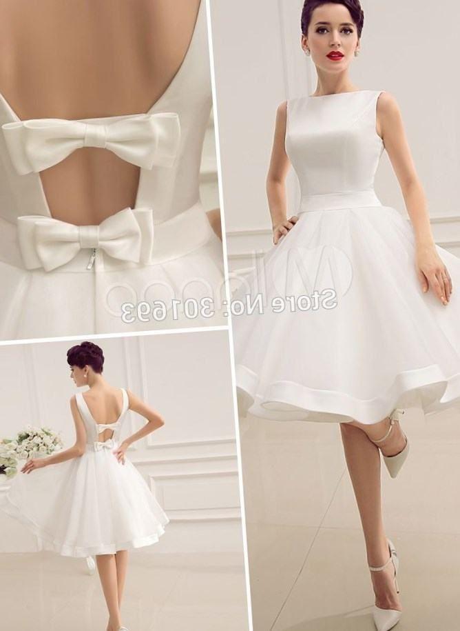 Sleeveless V Neck Short Open Back Summer Wedding Dress 221 99 00 55 Off