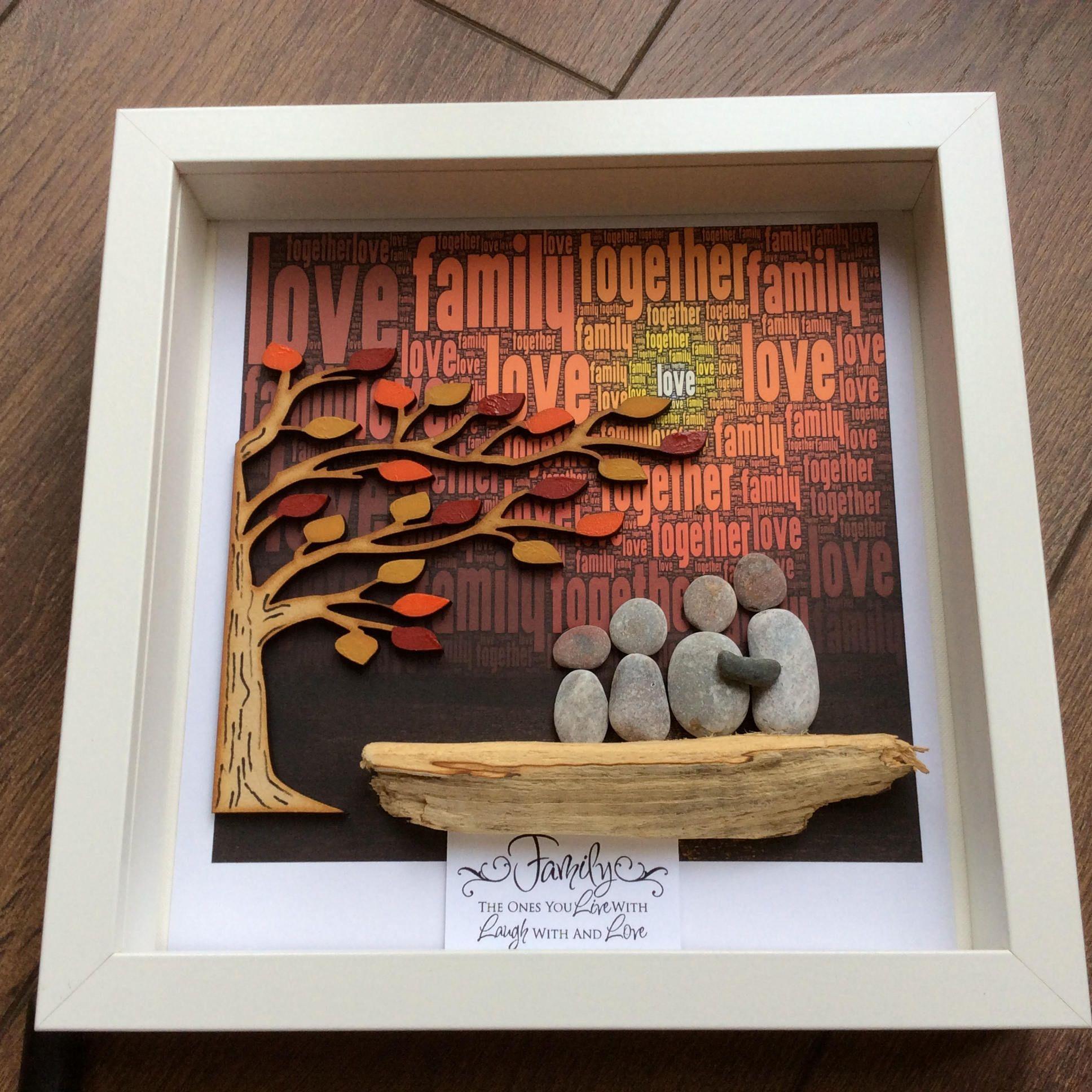 Arte familia regalo familiar familia de cuatro regalo para