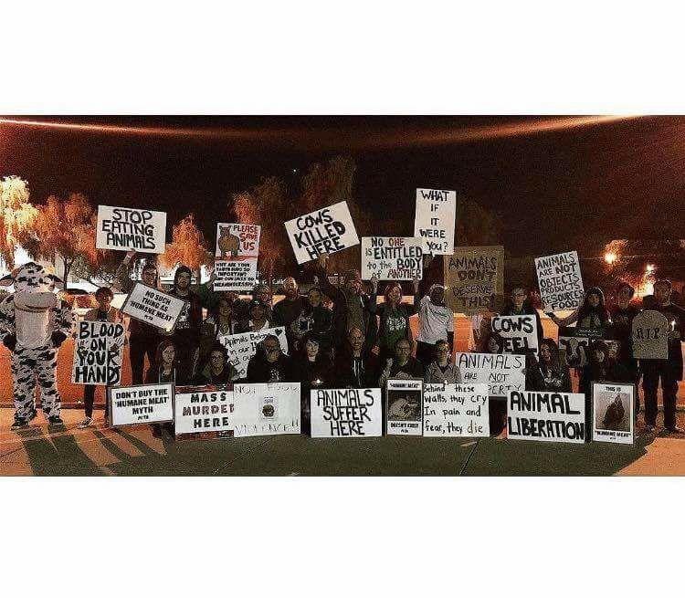 Jbs Slaughterhouse Vigil In Tolleson Arizona Phoenix Animal Animal Liberation Cow