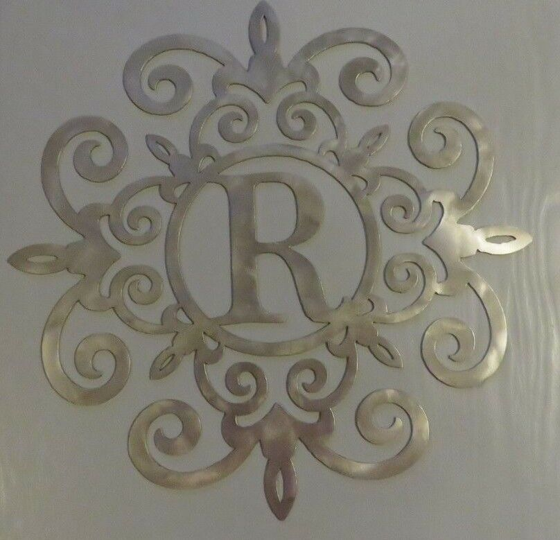 Details About Steel Monogram Initial Wall Porch Wall Art Scroll