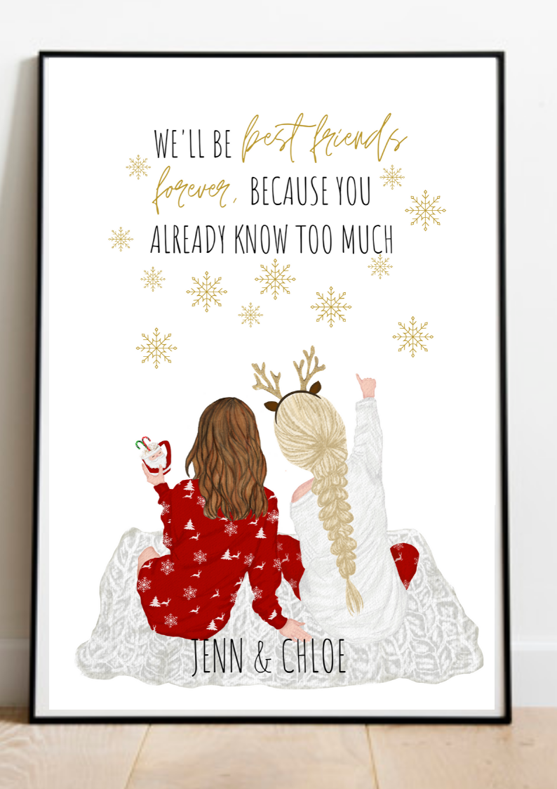 Christmas Gift Personalized Gift Sister Gift Best Friends Present Bff B Christmas Gifts For Sister Best Friend Christmas Gifts Christmas Gifts For Friends