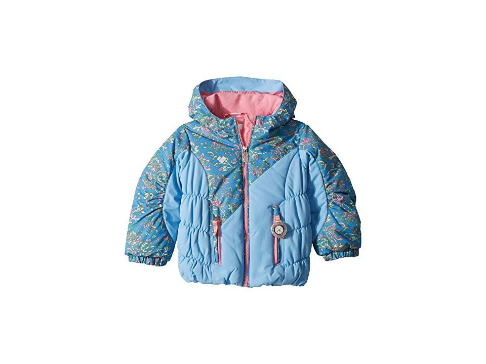 d80f15e83 Obermeyer Kids Cakewalk Jacket (Toddler/Little Kids/Big Kids) (Honeysuckle  Blue) Girl's Coat. ; Playing in the fresh powder makes it worry-free when  they're ...