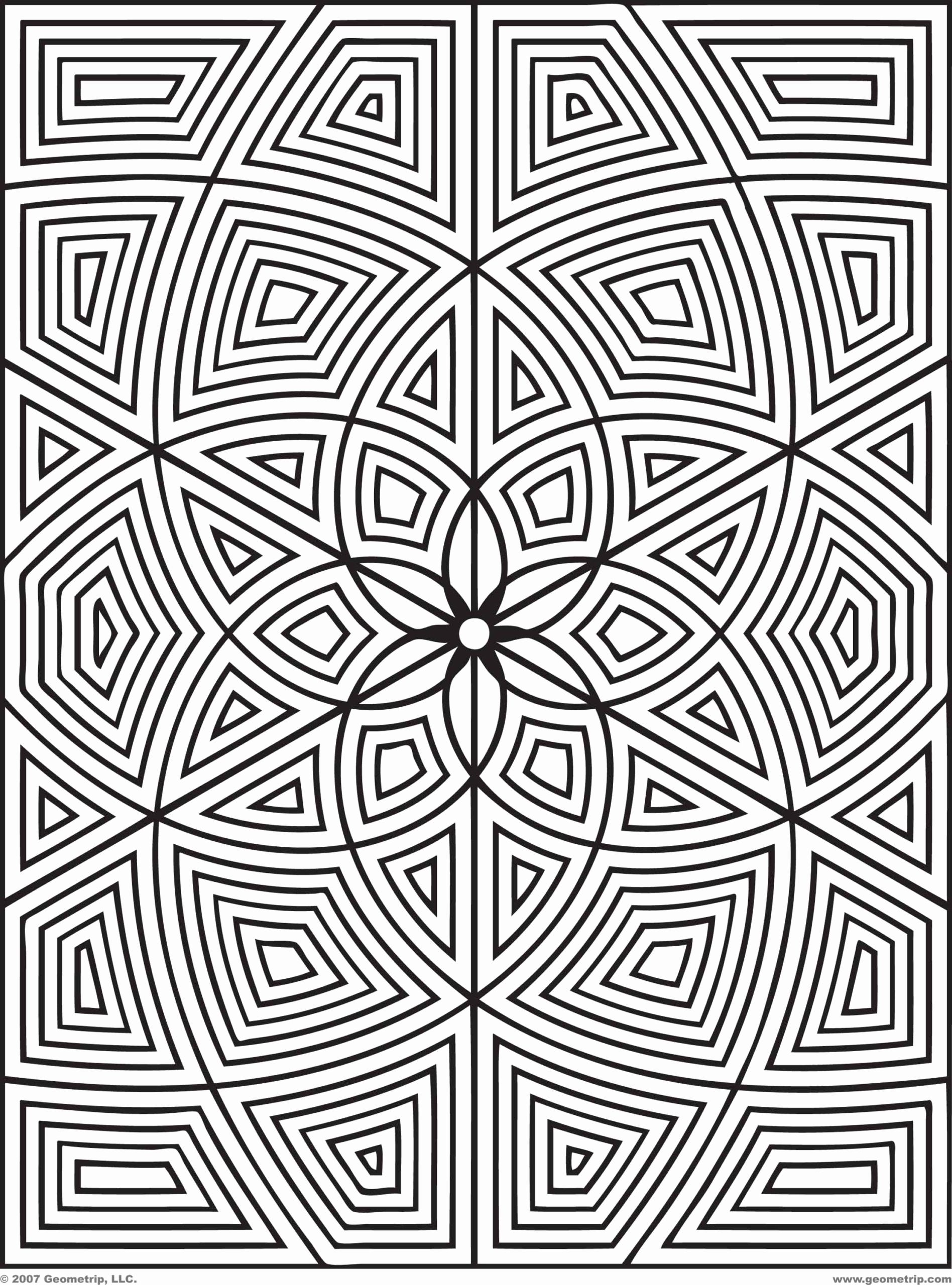 Geometric Patterns Coloring Pages For Kids Animal In 2020 Geometric Coloring Pages Pattern Coloring Pages Abstract Coloring Pages