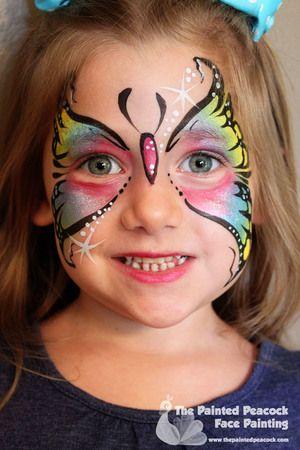 Butterfly Face Paint, Cleveland Face Painter, www.thepaintedpeacock.com