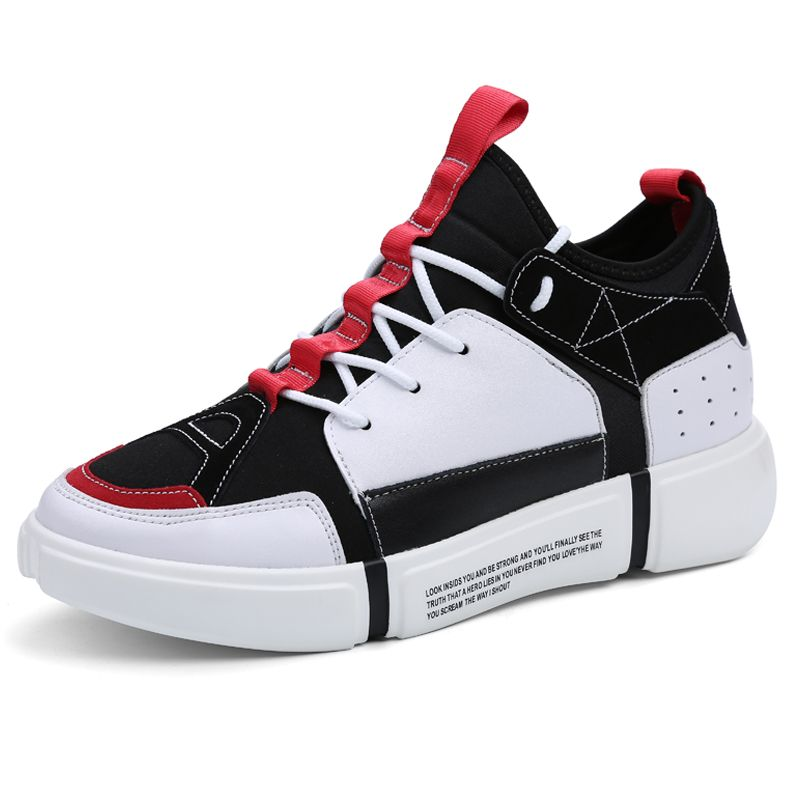638f9aa753 Performance Men Elevator Sneakers Increase 3.2inch   8cm White Taller  Casual Skateboarding Shoes