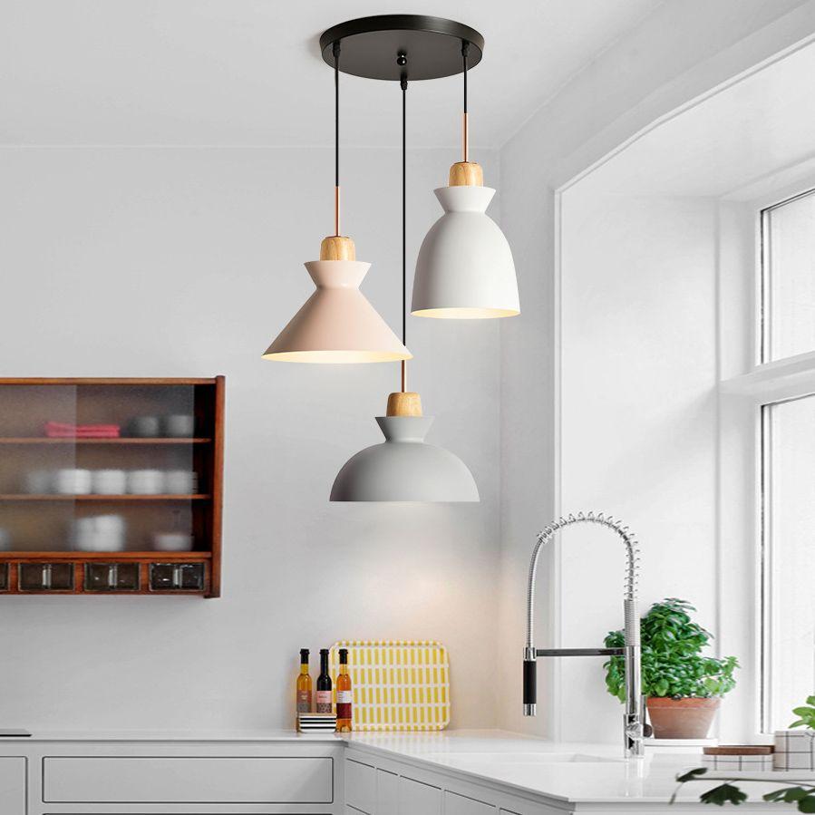 Scandinavian Style 3 Light Hanging Pendant For Kitchen Island Dining Room And Bar Lighting Lampadari Arredamento Idee