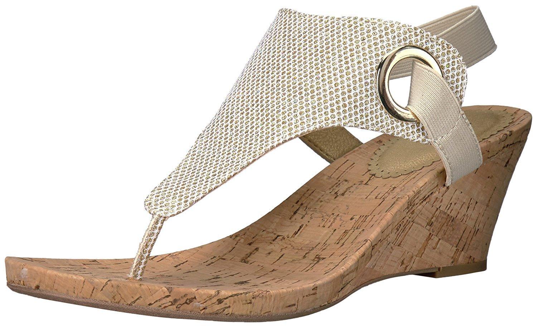 White Mountain Women S Aida Wedge Sandal Womens Sandals