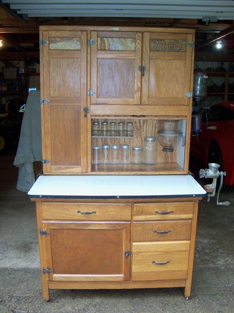 Antique Oak Hoosier Cabinet Wilson Americancountry