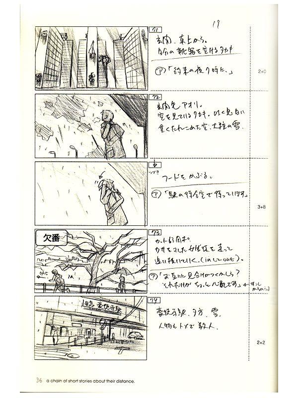 Makoto Shinkai 5 Centimeters Per Second And Others Story Board