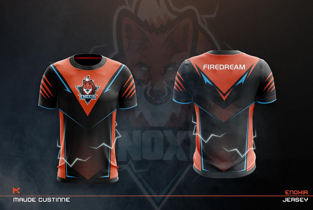 Download Jersey Esport Team Mockup On Behance Sport Shirt Design Jersey Design Sports Jersey Design