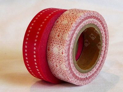 Red Pattern Washi Japanese MT Masking Tape - Japanese Washi Tape