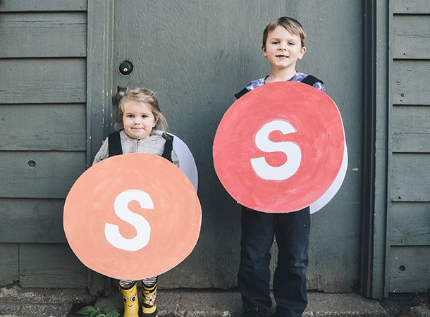 Easy DIY: Make This Sweet Skittles Halloween Costume for Under $10 :: YummyMummyClub.ca
