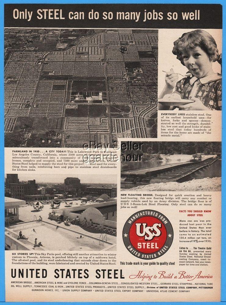 1952 Uss United States Steel Lakewood Park Los Angeles Ca Phoenix