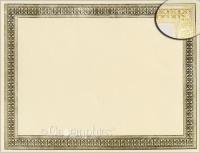 flourish gold foil certificate size 8 1 2 x 11 stock 28 ivory