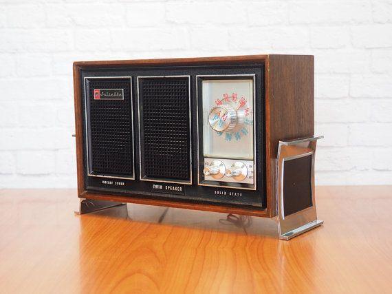 1970s Juliette RT290 Radio / Solid State Table Model Radio AM/FM/AFC Dual Speaker