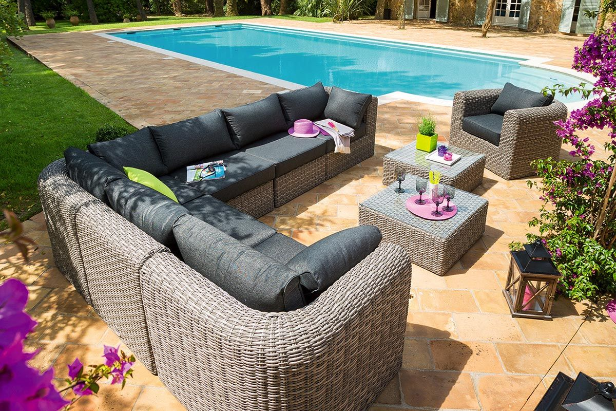 Salon de jardin modulable Libertad gris | Garden Furniture | Garden ...