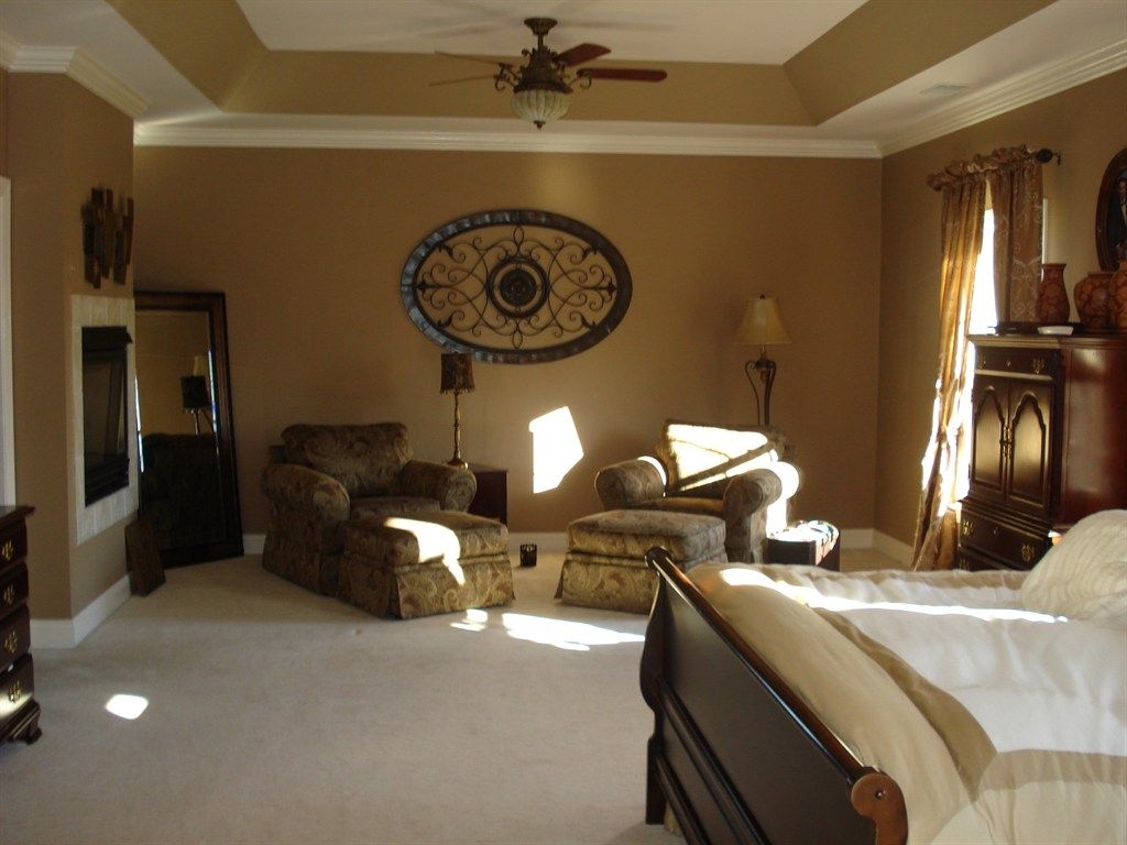 Master bedroom: Tray ceiling makeover. Wood floors | Welcome ...