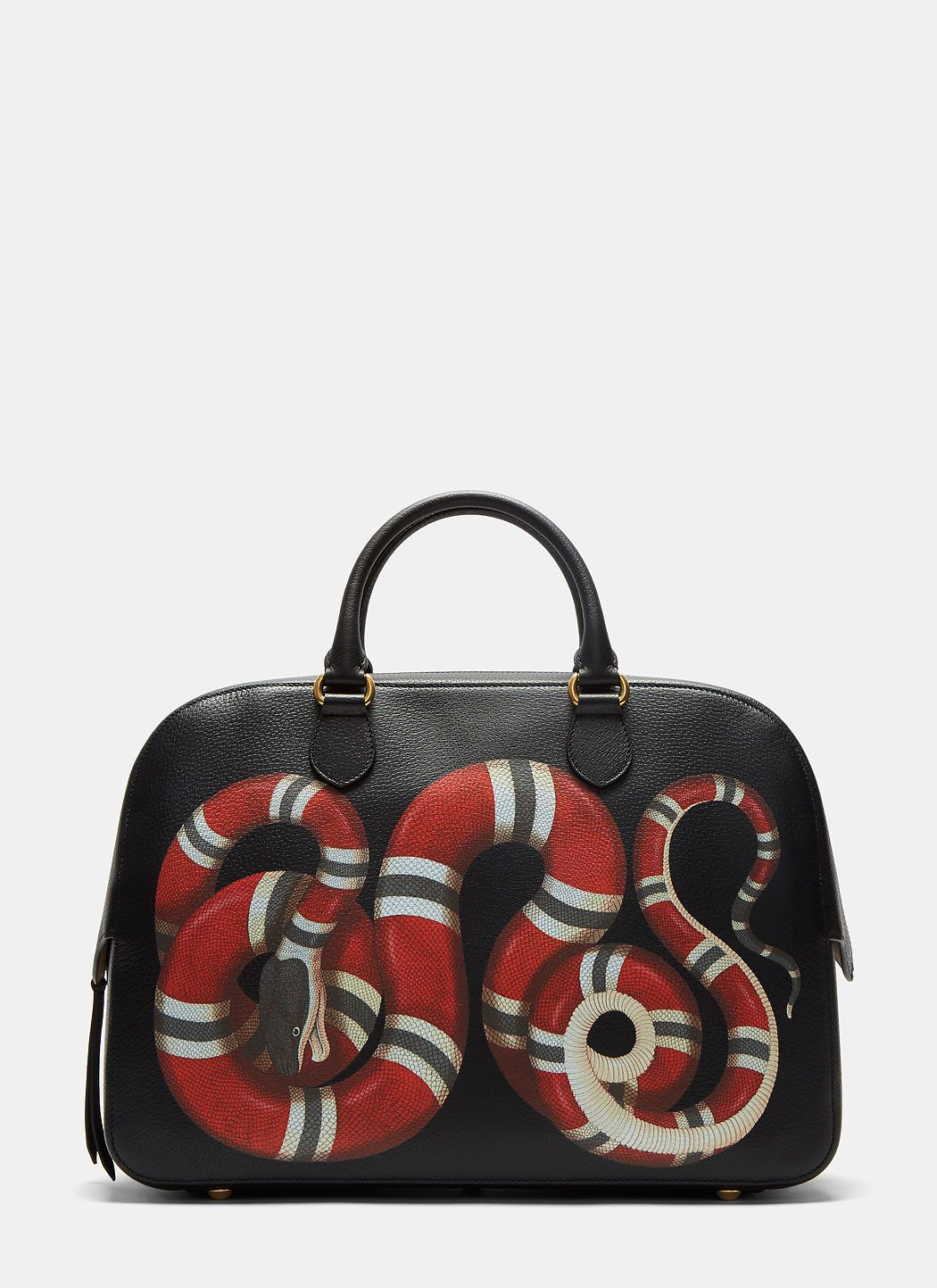 GUCCI Men\u0027s Merveilles Snake Duffle Bag in Black. gucci